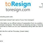 Payroll Manager Resignation Letter Example